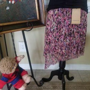 VivienneTam crinkle multicolor skirt